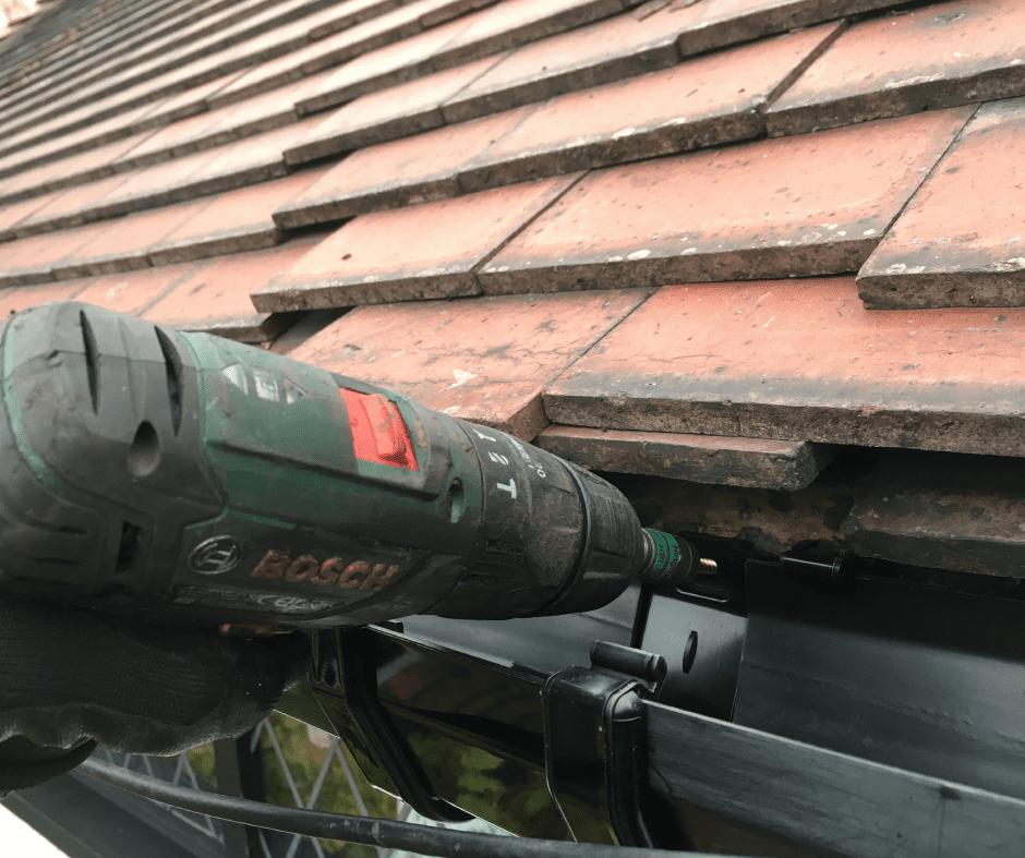 Leaking gutter repair